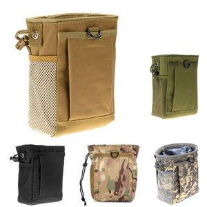Molle Ammo Pouch Gun revista Army Tactical Dump Gota Reloader Bag Bolsa Utility Hunting Rifle Revista Recuperação Pouch