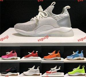 Versace shoes 2020 moda hocococal catena degli uomini scarpe casual signore triple bianco nero sneakers piattaforma leopard print multicolor mesh sneakers 36-45