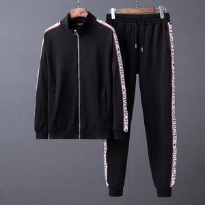 ppy Erkekler Spor Suit klasik Moda Uzun kollu Erkekler eşofman ceketler Seti Harf baskı Running İnce Kapüşonlular Medusa Lüks Spor