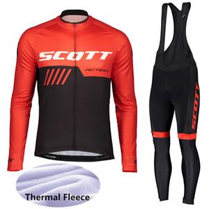 2019 SCOTT Winter Thermal Fleece Maniche lunghe Ciclismo Jersey MTB Bike Abbigliamento Racing Abbigliamento sportivo Abbigliamento bici Ropa Ciclismo 121103Y