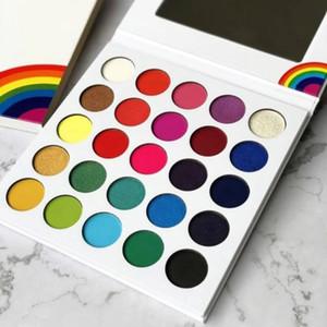 2020 Yeni 25 renk su geçirmez Kozmetik Makyaj far Göz Farı paleti Parlak Gökkuşağı Karton Göz Farı Paletler Makyaj
