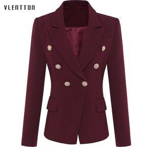 High quality woman blazer 2019 Spring autumn New fashion Double Breasted blazer femme Long Sleeve office jacket elegant female