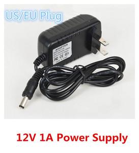 Cargador de la fuente de CA 100-240V 12V 1A 12W Adaptador de corriente de 12V 1A convertidor cargador de la pared de la UE / EEUU liberan Plug