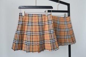 Jupe plissée en mousseline de soie stretch Robes courtes Vintage Treillis Designer Imprimer Femmes Été Jupes motif irrégulier filles Décoration 4,30