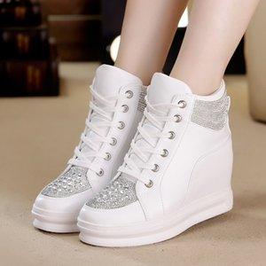 Kadınlar Platformu Bayanlar Ayakkabı için SWYIVY Chaussures Femme Beyaz Ayakkabı Kadın High Top Kadınlar Ayakkabı Sneakers 2019 Moda takozları Ayakkabı