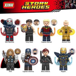 Minifigures Süper Kahramanlar Avengers Iron Man Kaptan Amerika Thor Black Widow Savaş Makinesi Antik One Biber Mini Yapı Taşları Şekil