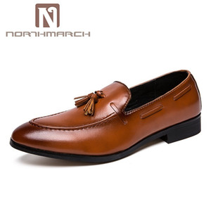 NORTHMARCH Männer Leder Kleid Schuhe Elegante Hochzeit Schuhe Für Männer Slip-On Sepatu Pria Kulit Zapatos De Cuero Hombre