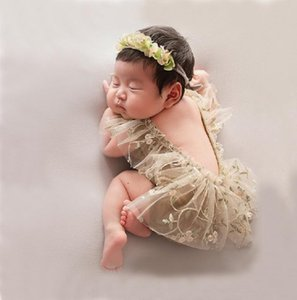 신생아 사진 소품 아기 옷 레이스 모자 소녀 뛰어 돌아 다니는 옷을 빌려 사진 촬영 의상