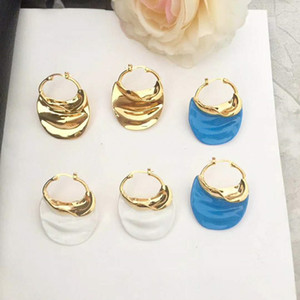 Европа и Америка горячие модные женщины серьги 3 цвета для вариантов желтого золота покрытием серьги для девочек женщин для партии свадьба хороший подарок