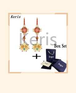 2019 Trends New LUCKY GODDESS Double Circle Necklace Set Shining Colorful Crystals Lovers Give Best Romantic Gift Set