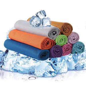 Toalla fría creativa ejercicio sudor verano hielo toalla 90*30 cm deportes hielo fresco toalla hipotermia enfriamiento bufanda lazos cuello bufandas