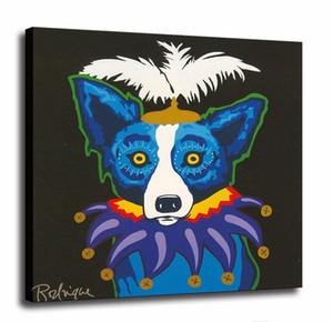 Großhandel Blue Dog-Qualitäts-Handbemalte HD-Druck moderne abstrakte Tierwand-Kunst-Ölgemälde auf Leinwand Home Office Deco Mulit Größen 4
