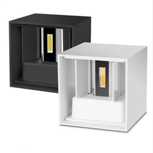 ديكور المنزل 12W البوليفيين الصمام الجدار مصباح داخلي في الهواء الطلق نمط بسيط أضواء الجدار الألومنيوم لغرفة النوم شرفة شرفة الشرفة
