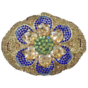 Latest Bridal Wedding Elegant Party Colorful Crystal Diamond Evening Bag 2020 Newest Crystal Diamond Chain Evening Bag