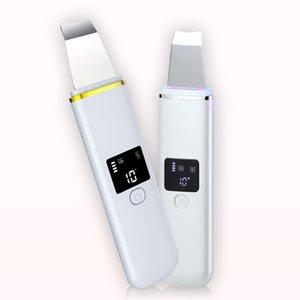 CE 승인과 최신 디자인 가정용 초음파 피부 스크러버 기계 충전식 얼굴 피부 필링 미용 삽 장비