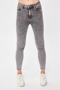 Trendyol Antrasit-Flushing Yüksek Bel Skinny Jeans TWOAW20JE0179