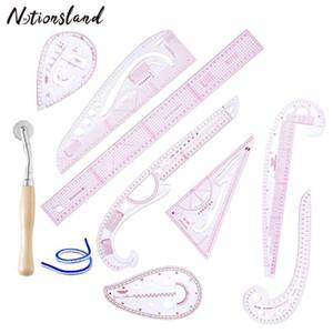 Kleidung Curve Nähen Lineal Messen Kit Maßstab Sleeve Arm Französisch Kurvenlineal DIY Kleid Nähen Werkzeuge 10pcs / set