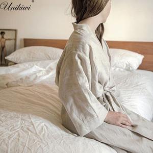 Unikiwi.women Sleepwear Robes Linen Pyjas
