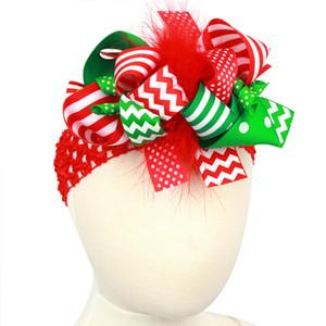 DHL 크리스마스 선물 헤어 액세서리 머리띠 크로 셰 뜨개질 헤어 클립 헤어핀 꽃 여자 아기 탄성 헤어 밴드 어린이