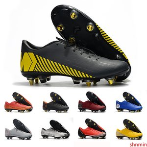 New Arrival yellow mens soccer shoes Mercurial superfly 360 VII Elite SG AC soccer cleats Neymar football boots chuteiras sneakers