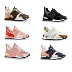 NUEVA Caja Original Piel Genuina de Lujo RUN AWAY Zapatillas de deporte de Moda Zapatos Casuales Zapatos Mujer entrenadores hombres Color Mezclado SZ US 5-12