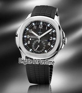 Новый Aquanaut 5164A-001 Стальной корпус 41мм черный Texture коммутируемого A2813 Автоматическая Мужские часы Черные резиновые спортивные часы 6 Стиль Puretime Pb289a1