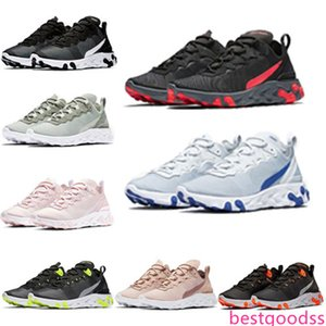 (with ) 2019 new quality React Element 55 Undercover X Upcoming designer sports men women Navy blue Sneaker shoesd1eb#