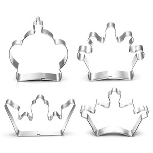 4 styles Crown Cookie Cutter stainless steel crown mold King Prince Queen Princess crown cake decoration tool