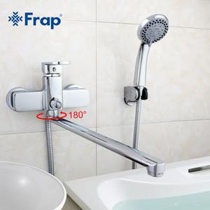 Alta qualidade Corpo de bronze tomada comprimento 35 centímetros atacado girado Bath duche torneira com chuveiro ABS F2273