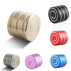 الطرف تفضل البسيطة التنويم المغناطيسي الدوران الإصبع لعبة تململ سبينر مكعب سطح أعلى إصبع تنفيس الضغط سبيكة الهدايا