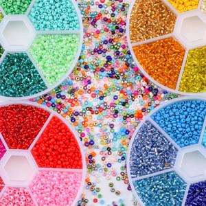 Vente en gros 2 mm boîte Rocailles Ceinture en verre tchèque charme ensemble rocailles Spacer Perles Pour Rondelle bricolage Bracelet Collier Fabrication de bijoux