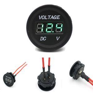 Nuovo arrivo 12 V-24 V DC LED display digitale voltmetro Metro Auto Moto auto impermeabile voltmetro Socket