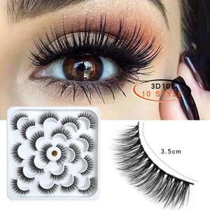 ISEEN 10Pairs Wimpern 3D Falsche Wimpern Natürliche starke lange Augenwimpern Fluffy Make-up Beauty-Verlängerungs-Werkzeuge