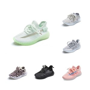 Online Run Shoes Kanye West Running Shoes Kids Sneakers V2 Children Athletic Shoes Boys Girls Sneakers Black Red Cream White Zebra #186