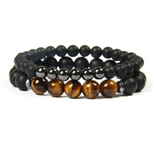 New Design Men And Women Fashion Couple Sets Bracelet 8mm Natural Sunstone, Apatite Stone Beaded Bracelets For Party