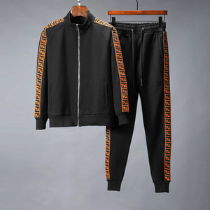 Sonbahar Erkek Ter Takım Elbise Pantolon ile Jogging Yapan Ceketler Suit Hip Hop Siyah Gri Tasarımcılar Eşofman