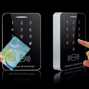 RFID Standalone Контроль доступа Сенсорная клавиатура Система цифровой клавишный двери RFID считыватель карт Контроллер замка