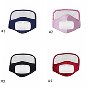 Face Shield Mask New Pure Cotton Visual Mask Face Mask Adult Transparent Protective Face Masks Cotton Riding Breathable Masks EEA1789