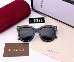 Gafas de sol de lujo Diseñador Gafas de sol Marca Moda Estilo Sunglass Hombre Mujer UV400 con caja y logotipo de marca Pentagonal Star Modeling 6371