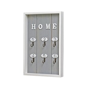 Key Box Gray INS Scandinavian Style Wall Decoration Handmade Wooden