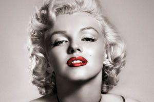Pinturas de aceite de impresión Marilyn Monroe Decoración Top pintado a mano de alta definición en arte de la pared de la lona representa x025