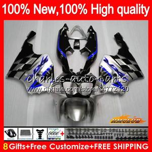 Body For KAWASAKI ZX-7R ZX750 ZX 7R 96 97 98 99 00 01 02 03 28HC.109 ZX-750 ZX 7 R blue silvery ZX 750 ZX7R 1996 1997 1998 1999 2003 Fairing