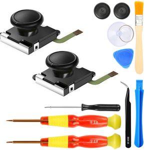 2-Pack remplacement 3D joystick analogique Pour manette Ns commutateur Joy-Con contrôleur avec l'outil de réparation Inclure Tri-Wing, Croix Sc