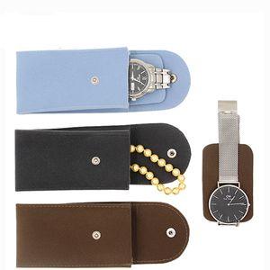 Nova inspeção Caixas de armazenamento Caixa de alta qualidade Assista Protect macia bolsa de coleta mecânica Organizador Assista saco de armazenamento saco de veludo de jóias