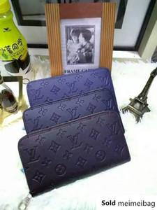 Designer 2019 M60017 Classic Men Fashion Flowers Printing Embossed Clutch Bag Wallets Purse Mini Clutches Exotics Evening Chain Belt Bags