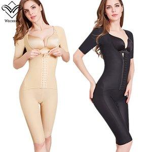 Wechery 2019 Shaper Women's Binders and Shapers Full Length Midi Sleeve Shapewear Slimming Bodysuit Female Faja 40-100kg 3XL Y200706