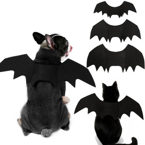 Recenti Halloween Pet ali di pipistrello Piccolo Grande Cane Gatto Bat Costume Abbigliamento Accessori per animali domestici Batman Cosplay Dog Clothes