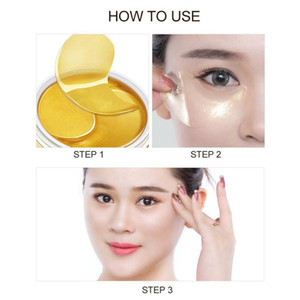 1pcs NEW HIISEES 30pair Gold Collagen Eye Mask Remove Dark Circles Whitening Firming Sleep Mask Moisturizing Eye Patches Skin Care