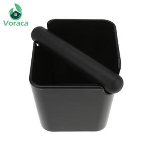 ABS Coffee Klopfen Box Schwarz Espresso Grind Container Anti Slip Coffee Grind Dump Bin Abfalleimer mit abnehmbaren Knock Barista