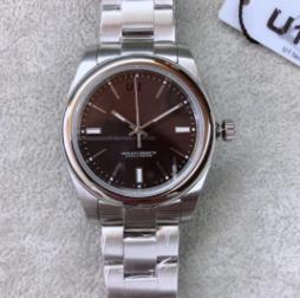 Feste gewölbter Lünette 39MM schwarzes Zifferblatt automatische mechanischen R Series Herren-Uhren Zeiger und Indexe Uhr No Date Männer Armbanduhr
